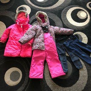 Bundle of girl's of winter coats